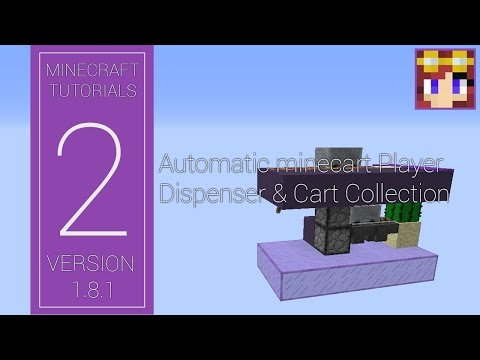 Minecraft Tutorial - Automatic Minecart Dispenser (1.8.1)