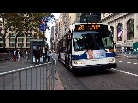 2009 Orion VII Next Generation Hybrid #4202 on the Q32 at 5 Avenue & East 42 Street