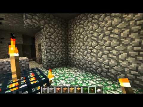 Minecraft 1.2.5 Skeleton Dungeon Spawn!