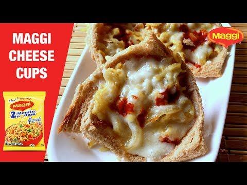 Maggi Cheese Cups | Bread Katori for kids
