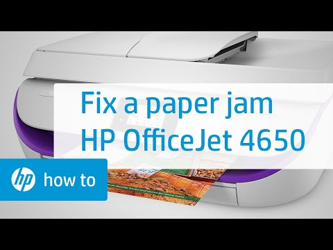 Fixing a Paper Jam on the HP OfficeJet 4650 Printer | HP