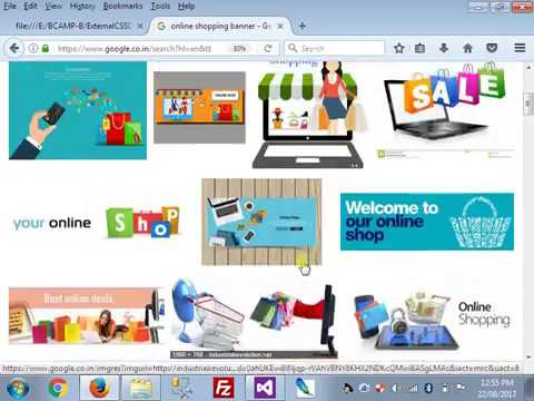 How to Create Layout For Online Shopping project with HTML & External CSS with Product View in Hindi