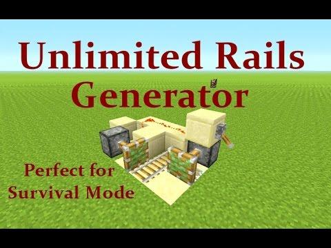 Minecraft Tutorial : Unlimited Rail Generator Works on Playstation, Xbox & PC