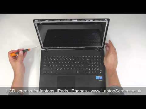 How to replace laptop screen / Fixing LCD ASUS X551M