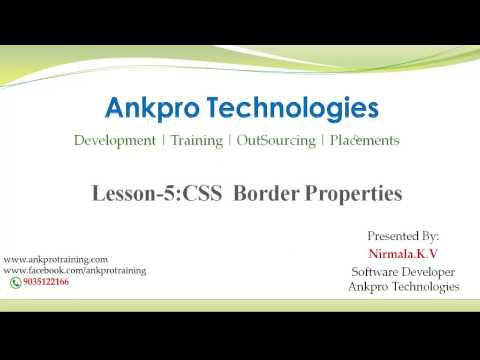 CSS Lesson 5 - CSS Borders, Margin and Padding