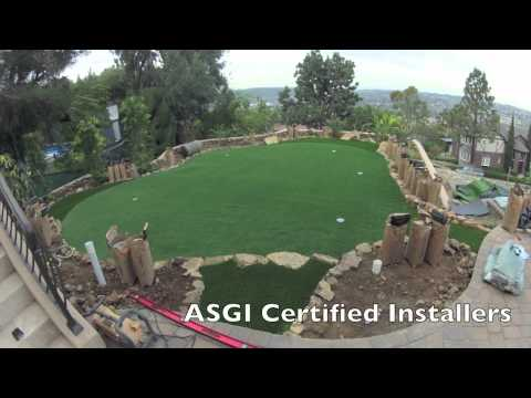 Synthetic Putting Green Time Lapse Installation Video by SoCal Greens
