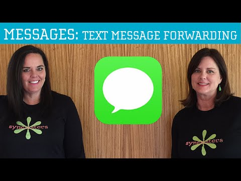 iPhone / iPad Messages App - Text Message Forwarding