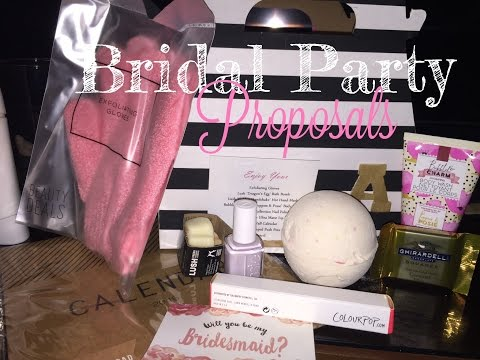 Bridal Party Proposal