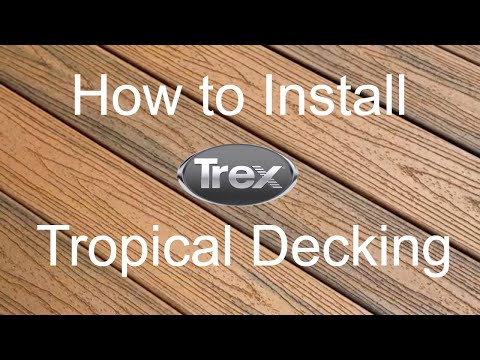 How to Install Trex Transcend Tropical Decking Colors