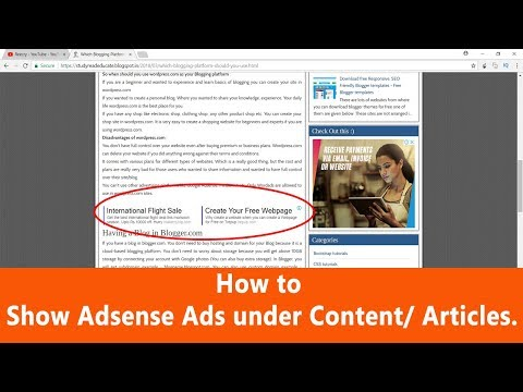 How to Insert ads within your post content/Articles in Wordpress/ Blogger