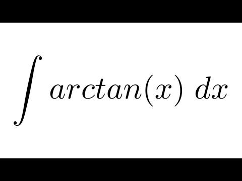 Integral of arctan(x) (by parts)
