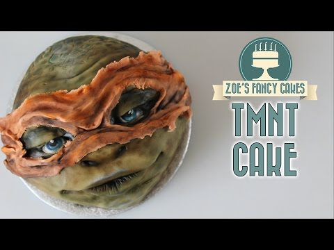 Teenage Mutant Ninja Turtles cake Michelangelo TMNT movie cakes