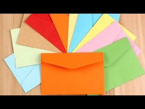 How to make paper envelope in Hindi.