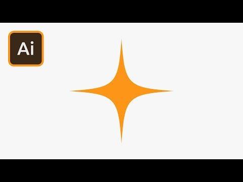 Twinkling Star in Illustrator | 2 Minute Tutorial