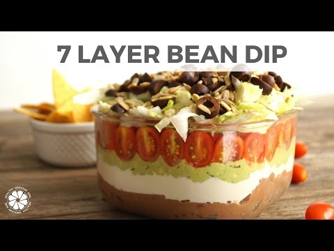 7 Layer Bean Dip | Easy, Gluten-Free Recipe Super Bowl 2016| Healthy Grocery Girl Cooking Show