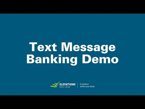 Text Message Banking Demo