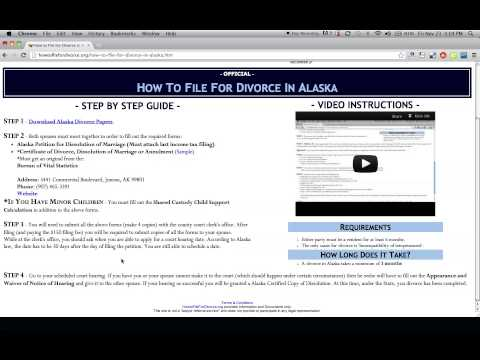 How to File For Divorce in Alaska