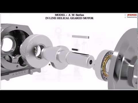 Inline helical geared motor, Inline helical gearbox, Inline helical gear box