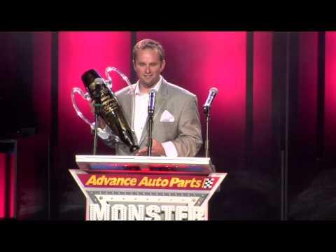 Monster Jam - World Finals 2013 - Grave Digger the Legend Accepts Racing Championship Trophy