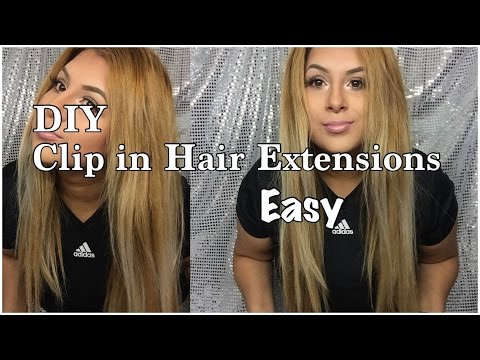 DIY SUPER EASY CLIP IN HAIR EXTENSIONS | ANGELINE LOPEZ