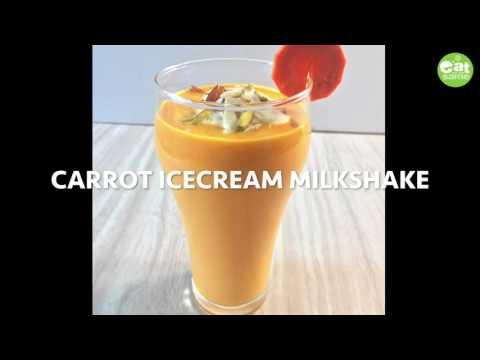 Carrot milkshake (2ways)