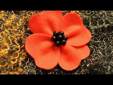 How To Make a Red Poppy Felt Brooch - DIY Style Tutorial - Guidecentral
