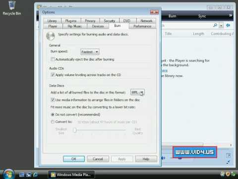 Windows 7 - How to set up Windows Media player 11 to save tracklist as m3u