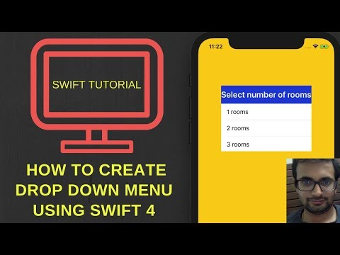 How to create drop down menu in ios using swift 4 + Xcode 9.2