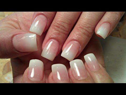 HOW TO BABY BOOMER ACRYLIC NUDE OMBRE NAILS TUTORIAL