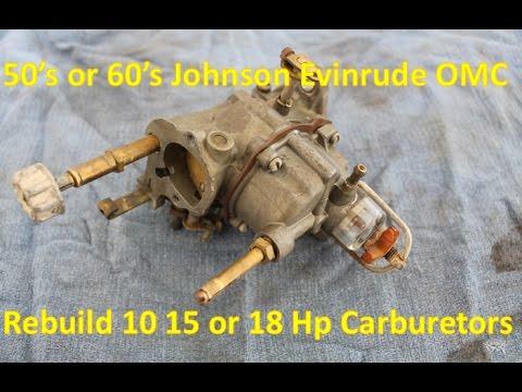 Rebuild Carburetor - Johnson Evinrude OMC Outboard