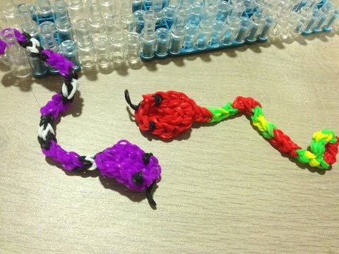 Tuto Loom Bands Serpent Facile Français DIY / Tutorial Loom Bands Snake Easy DIY