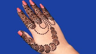 Karva Chauth Special Mehndi Design for Hands | Jewellery Mehndi Design #94 @ jaipurthepinkcity