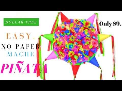 DOLLAR TREE PINATA  | EASY No Paper Mache DIY Piñata
