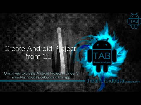 Create Android Project under 5 minutes using CLI WITHOUT ANY IDE