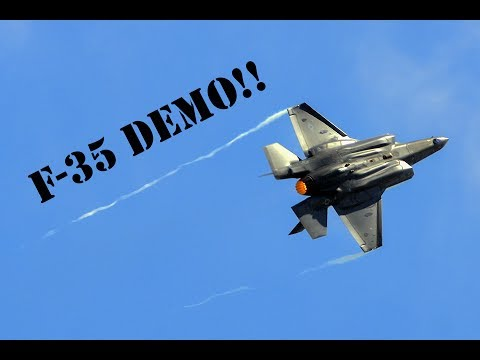 F-35A Lightning ll Demo!! Practice for the 2017 Paris Airshow!!