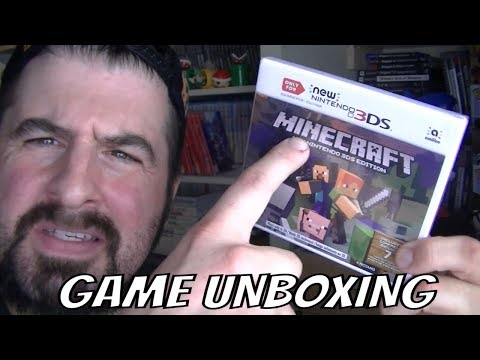 NEW 3DS MINECRAFT EDITION GAME UNBOXING
