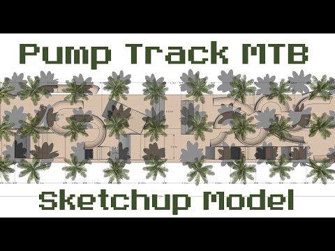 Pump Track MTB sketchup model