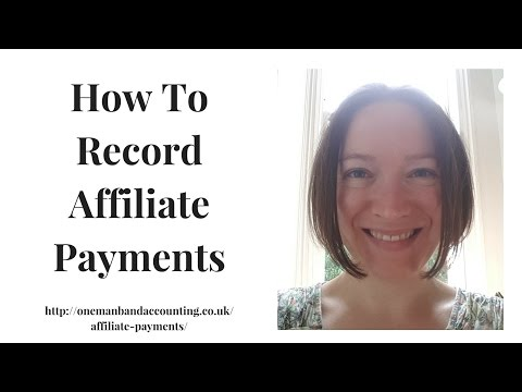 How To Record Affiliate Payments