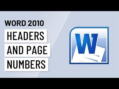 Word 2010: Headers & Page Numbers