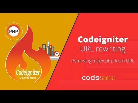 Codeigniter Tutorial for Beginners - URL rewriting, removing index.php from URL, Clean URL