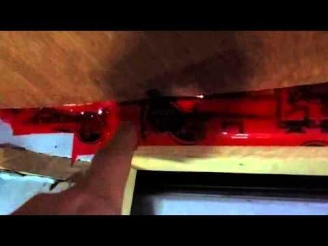 Living In A Van - Van Build 4 - Installing Vapor Barrier & Luan Panelling on Ceiling.