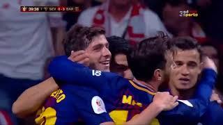 أهداف مباراة برشلونة واشبيلية 5-0  نهائي كأس ملك إسبانيا - 22/04/2018