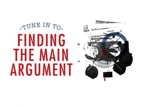 Finding the Main Argument in Academic Writing