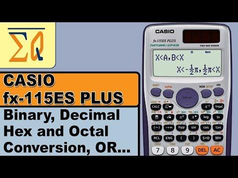 Casio FX 115es Plus Binary Decimal Hex and Octal Conversion