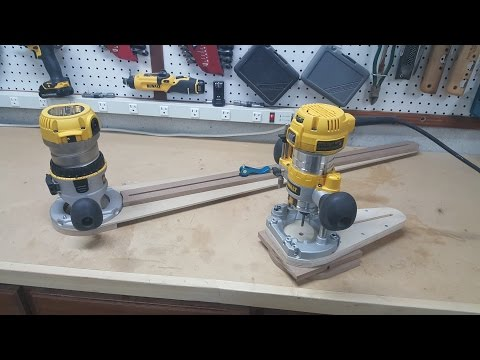 Small Circle Cutting Router Jig