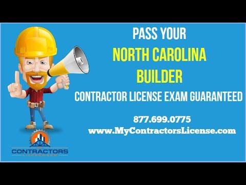 North Carolina Builder License 🔨 Pass Your Exam Guaranteed!