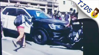 LAPD Runs Over Protestors As News Anchor Ignores It