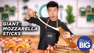 I Made Giant Mozzarella Sticks And Onion Rings •Tasty