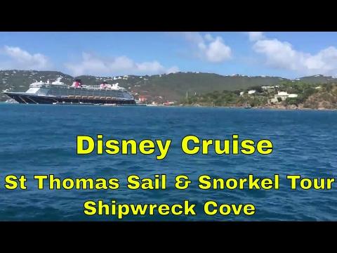 Disney Fantasy Cruise - St Thomas Sail and Snorkel to Shipwreck Cove