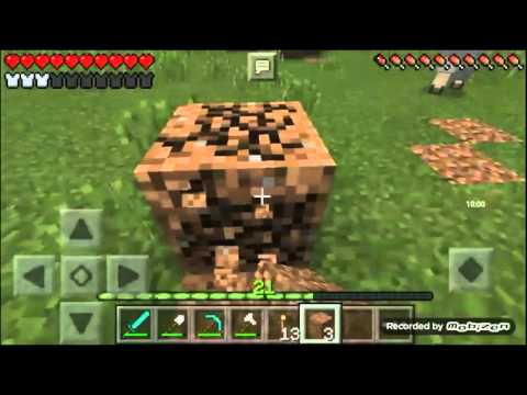 Survival Let's Play Ep. 3 - Enchantment Table & Nether Portal - Minecraft PE (Pocket Edition)